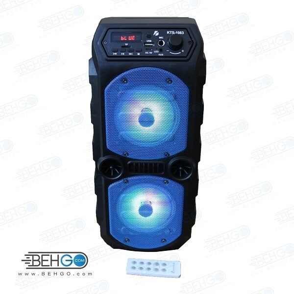 بلندگو یا اسپیکر اصلی بلوتوثی و فلش خور قابل حمل با کیفیت Best Bluetooth speaker KTS-1083