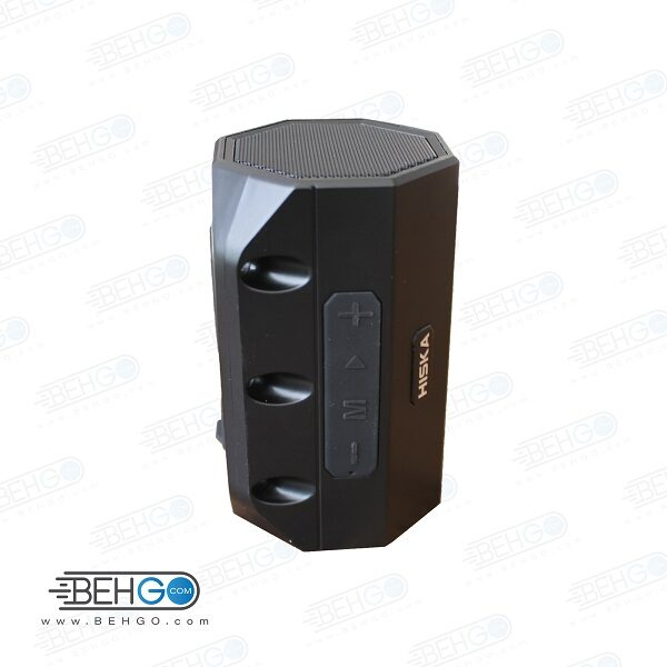 بلندگو یا اسپیکر اصلی بلوتوثی و فلش خور قابل حمل برند هیسکا ضد آب با کیفیت Best Bluetooth speaker Hiska B17s