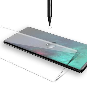 بهترین گلس گوشی سامسونگ نوت 10 محافظ صفحه نمایش شیشه ای سامسونگ نوت ده تمام صفحه Note 10 با پوشش کامل مدل یو وی UV Nano Glass For Samsung Galaxy Note10 / Note 10