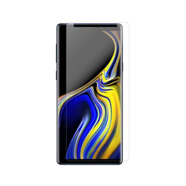 بهترین گلس گوشی سامسونگ نوت 9 محافظ صفحه نمایش شیشه ای سامسونگ نوت نه تمام صفحه Note 9 با پوشش کامل مدل یو وی UV Nano Glass For Samsung Galaxy Note9 / Note 9