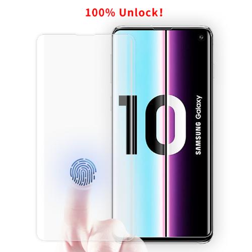 بهترین گلس گوشی سامسونگ S10 Plus محافظ صفحه نمایش شیشه ای سامسونگ اس 10 پلاس تمام صفحه اس ده پلاس با پوشش کامل مدل یو وی UV Nano Glass For Samsung Galaxy S10 plus