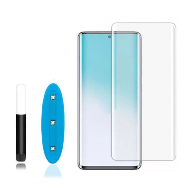 بهترین گلس گوشی سامسونگ S20 Ultra محافظ صفحه نمایش شیشه ای سامسونگ اس بیست اولترا تمام صفحه اس 20 الترا با پوشش کامل مدل یو وی UV Nano Glass For Samsung Galaxy S20Ultra / S20 Ultra
