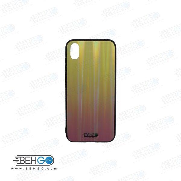 قاب گوشی هواوی وای 5 2019 کاور Y5 2019 لیزری رنگی آنر 8 اس محافظ Y5 2019 قاب Honor 8S مدل لیزری گوشی Tempered Glass Laser Case Huawei y5 2019/Honor 8S