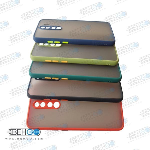 قاب Note 8 pro محافظ دور رنگی کاور پشت مات با برجستگی لنز دوربین شیائومی نوت 8 پرو Fashion Case Xiaomi Redmi Note8 pro