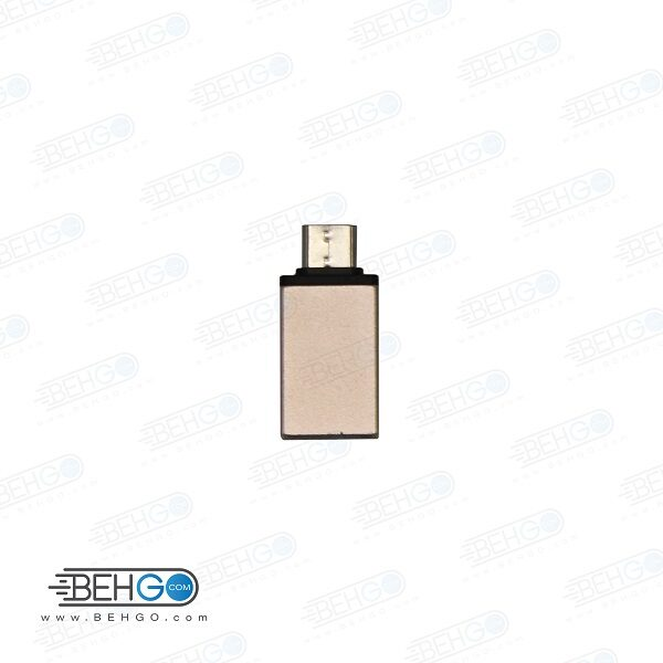 مبدل otg type c مدل فلزی تبدیل تایپ سی او تی جی مناسب سامسونگ،شیائومی،هواوی و ال جی اصلی Type-C OTG USB Adapter Metal