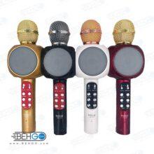 میکروفون اسپیکر بلوتوثی بیسیم با امکان تغییر صدا ،ضبط،پخش،اکو دار، فلش خور ، اسپیکر میکروفونی اصلی سازگار با گوشی اندروید و ایفون SU YUSD WS 668 KTV Karaoke Magic Wireless Bluetooth Microphone Speaker WS 1816