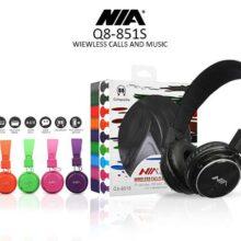 هدفون اصلی Nia هدست بلوتوث دار مدل نیا کیو 8 هدفون بی سیم اورجینال نیا اصلی مدل Q8-851S هدست بلوتوثی با کیفیت رنگی Original IA Q8-851S Wireless Headphones