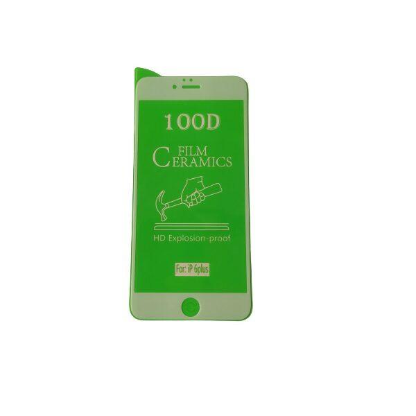 گلس ایفون 6 پلاس و ایفون 6 اس پلاس با پوشش کامل محافظ سرامیکی اصلی آیفون شش پلاس نانو ایفون یازده گلس انعطاف پذیر نشکن گوشی آیفون 6پلاس اپل با چسب کامل محافظ صفحه نمایش نانو سرامیکی آیفون Iphone 6 Plus Original Nano Flexible Ceramic Full Coverage Screen Protector with Full Glue Anti Broken For Apple iPhone 6S Plus