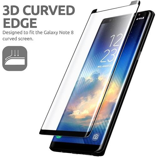 گلس گوشی سامسونگ نوت 8 محافظ صفحه نمایش سامسونگ Note 8 مدل فول چسب خم شیشه ای مناسب برای گوشی موبایل سامسونگ نوت 8 گلس Full Glue Glass Screen Protector For Samsung Galaxy Note8 / Note 8