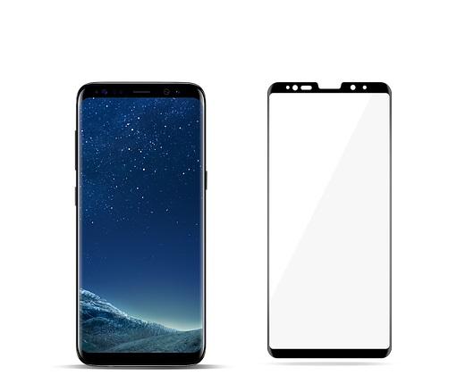 گلس S8 محافظ صفحه نمایش سامسونگ S8 مدل فول چسب خم شیشه ای مناسب برای گوشی موبایل سامسونگ اس 8 گلس Full Glue Glass Screen Protector For Samsung Galaxy S8