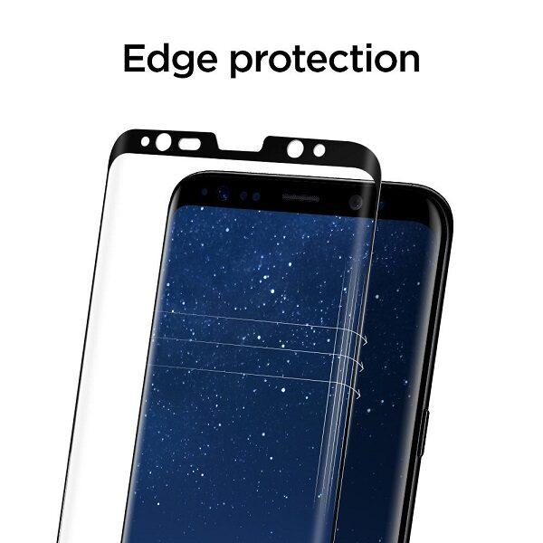 گلس S8 plus محافظ صفحه نمایش سامسونگ S8 Plus مدل فول چسب خم شیشه ای مناسب برای گوشی موبایل سامسونگ اس 8 پلاس گلس Full Glue Glass Screen Protector For Samsung Galaxy S8 plus