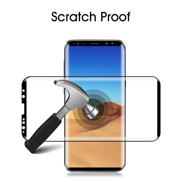 گلس S9 محافظ صفحه نمایش سامسونگ S9 مدل فول چسب خم شیشه ای مناسب برای گوشی موبایل سامسونگ اس 9 گلس Full Glue Glass Screen Protector For Samsung Galaxy S9