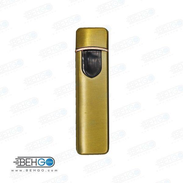 فندک برقی المنتی با قابلیت شارژ با کابل میکرو USB مدل لمسی کادویی فندک سیگار المنتی Electronic Cigarette Lighter