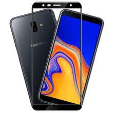 گلس سامسونگ J4 Plus و J6 Plus سامسونگ مدل فول گوشی جی 4 پلاس و جی 6 پلاس محافظ صفحه نمایش شیشه ای J6 plus تمام چسب گلس J4 Plus سامسونگ Full Glue Glass Samsung Galaxy J4 core/J4 Plus/J6 Plus