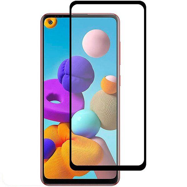 گلس A21s سامسونگ A21s محافظ صفحه نمایش شیشه ای ا21 اس تمام چسب گلس ای 21 اس سامسونگ Full Glue Glass Samsung Galaxy A 21 S / A21S
