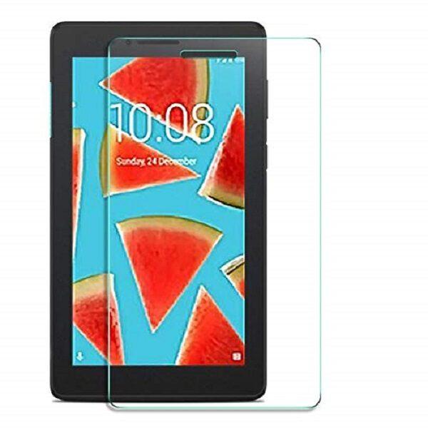 گلس تبلت lenovo 7104 Tab E7 بی رنگ و شفاف یا محافظ صفحه نمایش شیشه ای تبلت Glass Screen Protector Lenovo 7104 Tab E7