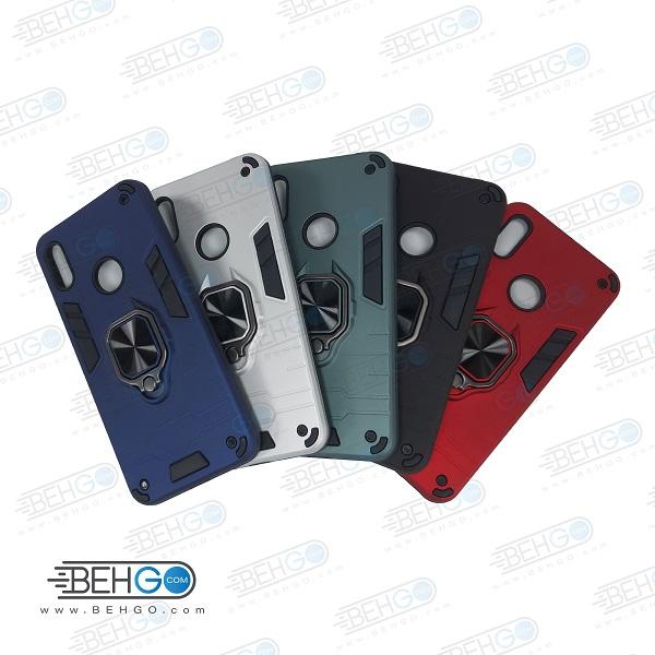 قاب گوشی y6 prime 2019 قاب پاپ سوکت دار مدل بتمن ارمور اصلی کاور گوشی موبایل هواوی Anti Shock Anti Shock BATMAN ARMOR FINGER RING CASE COVER For Huawei Y6S/Y6 Prime 2019/Honor 8A/Y62019