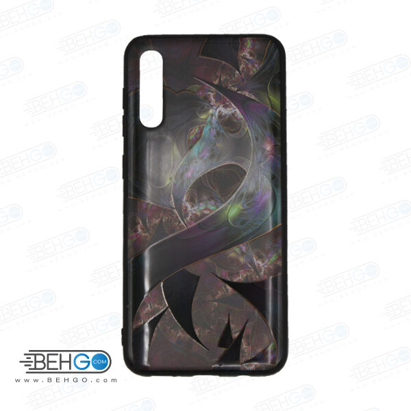 قاب A70s و A70 کاور سامسونگ آ هفتاد اس قاب فانتزی گوشی سامسونگ A70 S با عکس بنفش، مشکی طرح 9 محافظ مناسب ا70 اس گوشی موبایل سامسونگ New Purple and Black Phone Case For Samsung A70s/A70