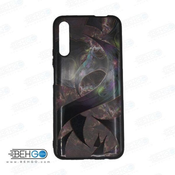 قاب Y9S کاور هواوی Y9S قاب فانتزی گوشی هواوی وای 9 اس با عکس بنفش مشکی طرح 9 محافظ مناسب وای نه اس گوشی موبایل هواوی New Purple Black Phone Case For Huawei Y9S 2019