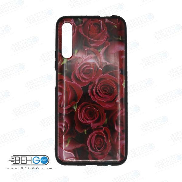 قاب Y9S کاور هواوی Y9S قاب فانتزی گوشی هواوی وای 9 اس با عکس گل سرخ طرح 12 محافظ مناسب وای نه اس گوشی موبایل هواوی New Red Flowers Phone Case For Huawei Y9S 2019