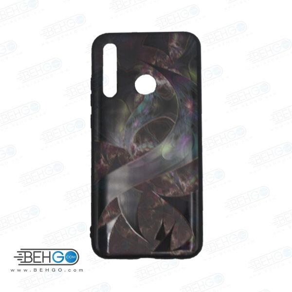 قاب honor 10 lite کاور هواوی پی اسمارت 2019 قاب فانتزی گوشی هواوی آنر 10 لایت با عکس بنفش، مشکی طرح 9 محافظ مناسب psmart 2019 گوشی موبایل هواوی New Purple and Black Phone Case For Huawei honor 10 lite /psmart 2019