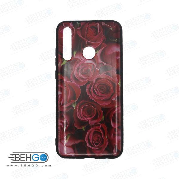 قاب honor 10 lite کاور هواوی پی اسمارت 2019 قاب فانتزی گوشی هواوی آنر 10 لایت با عکس گل سرخ طرح 12 محافظ مناسب psmart 2019 گوشی موبایل هواوی New Red Flowers Phone Case For Huawei honor 10 lite /psmart 2019