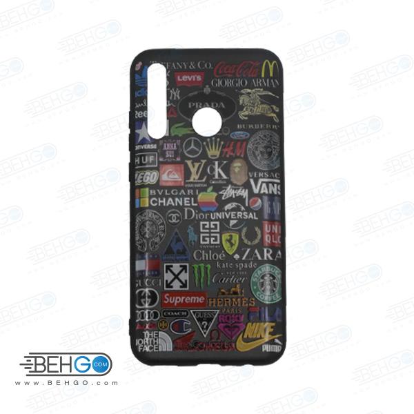 قاب honor 20 lite کاور هواوی آنر بیست لایت قاب فانتزی گوشی هواوی آنر 20 لایت با عکس لوگوی برندها طرح 14 محافظ مناسب گوشی موبایل هواوی New Brands Logo Phone Case For Huawei honor 20 lite