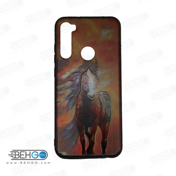 قاب note 8t کاور شیائومی note 8t قاب فانتزی گوشی شیائومی note8 t با عکس اسب قرمز طرح 19 محافظ مناسب نوت 8 تی گوشی موبایل شیائومی New Red Horse Phone Case For xiaomi redmi note 8t