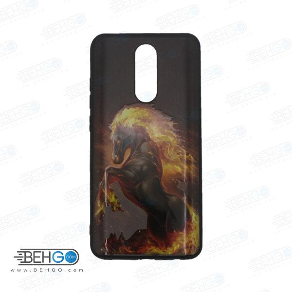 قاب redmi 8 کاور شیائومی redmi 8 قاب فانتزی گوشی شیائومی redmi 8 با عکس اسب آتشی طرح 2 محافظ مناسب ردمی 8 گوشی موبایل شیائومی New horse Phone Case For xiaomi redmi 8