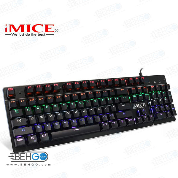 کیبورد مکانیکی کیبورد گیمینگ کیبورد مخصوص بازی مناسب گیم کامپیوتر iMice MK-X80 104 Keys Wired Gaming Mechanical Keyboard LED Backlit RGB Anti-Ghosting Waterproof Keyboards for Computer PC Game