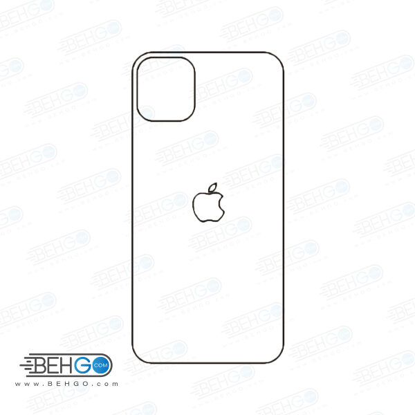 برچسب پشت آیفون 11 محافظ پشت رنگی و اکلیلی گوشی Apple iphone 11 Back Protector