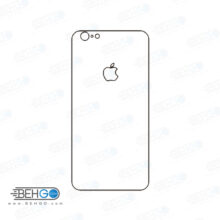برچسب پشت آیفون 6 پلاس و 6 اس پلاس محافظ پشت رنگی و اکلیلی گوشی Apple iphone 6/6s plus Back Protector