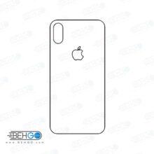 برچسب پشت آیفون X و Xs محافظ پشت رنگی و اکلیلی گوشی Apple iphone X/Xs max Back Protector