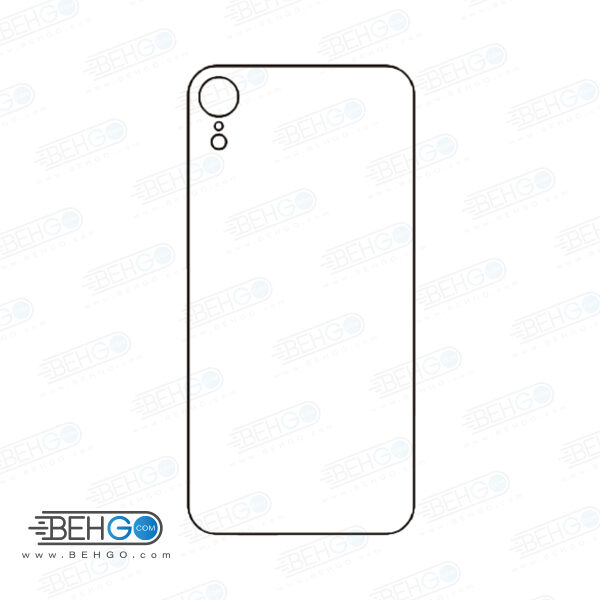 برچسب پشت آیفون XR ایکس آر محافظ پشت رنگی و اکلیلی گوشی Apple iphone Xr Back Protector