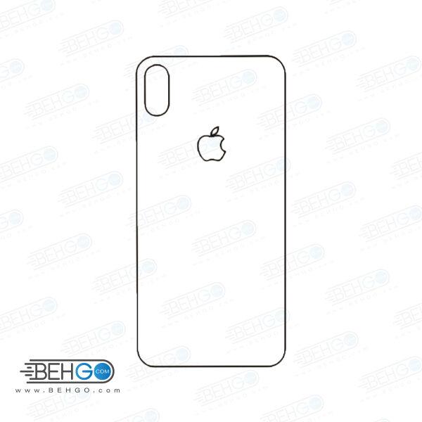 برچسب پشت آیفون Xs مکس محافظ پشت رنگی و اکلیلی گوشی Apple iphone Xs max Back Protector
