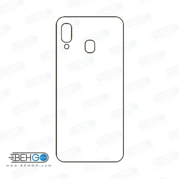 برچسب پشت گوشی موبایل M10S سامسونگ محافظ پشت رنگی و اکلیلی گوشی Samsung Galaxy M10s Back Protector