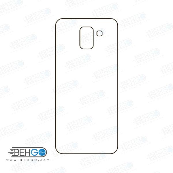برچسب پشت جی 6 سامسونگ محافظ پشت رنگی و اکلیلی گوشی Samsung Galaxy J6 Back Protector