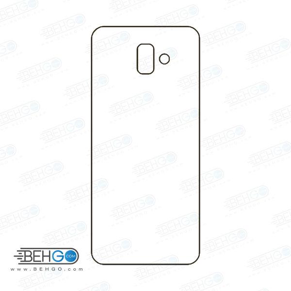 برچسب پشت جی 6 پلاس سامسونگ محافظ پشت رنگی و اکلیلی گوشی Samsung Galaxy J6 Plus Back Protector
