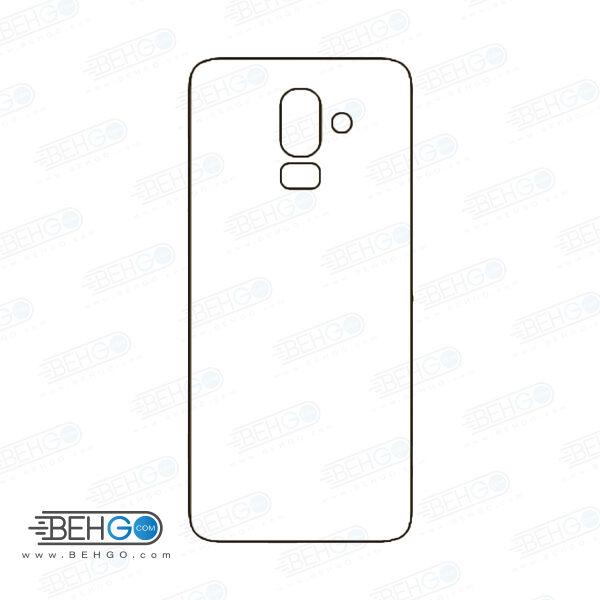 برچسب پشت جی 8 سامسونگ محافظ پشت رنگی و اکلیلی گوشی Samsung Galaxy J8 Back Protector