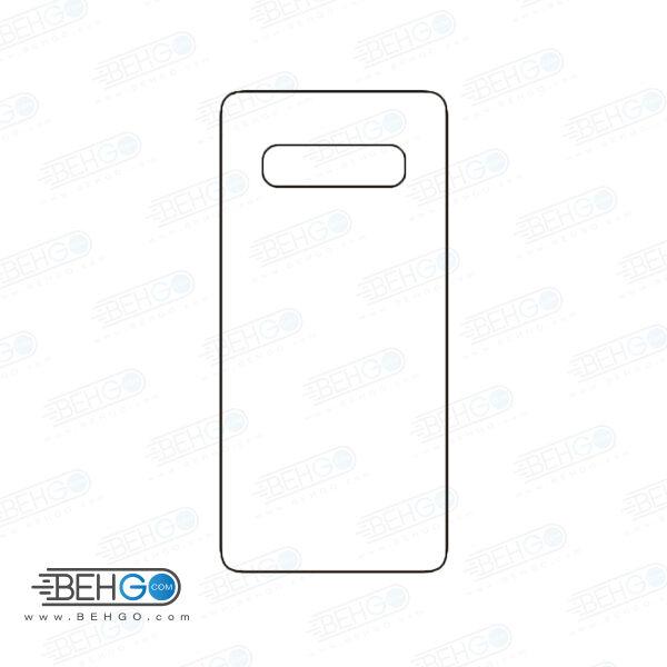 برچسب پشت سامسونگ گلکسی اس 10 پلاس محافظ پشت رنگی و اکلیلی گوشی Samsung Galaxy S10 Plus Back Protector