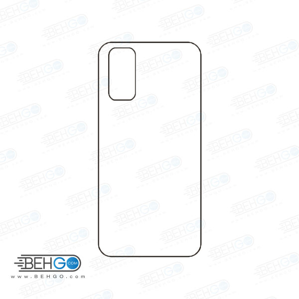برچسب پشت سامسونگ گلکسی اس 20 محافظ پشت رنگی و اکلیلی گوشی Samsung Galaxy S20 Back Protector