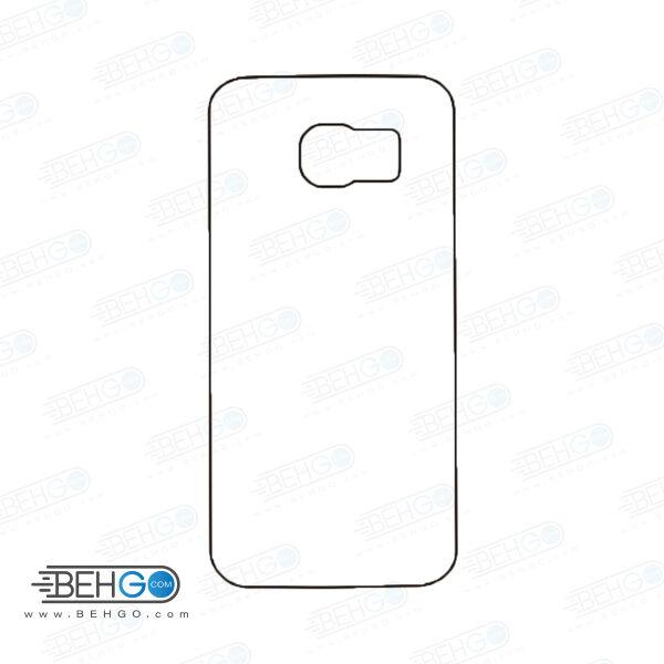 برچسب پشت سامسونگ گلکسی اس 6 اج محافظ پشت رنگی و اکلیلی گوشی Samsung Galaxy S6 edge Back Protector