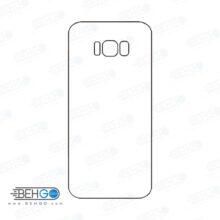 برچسب پشت سامسونگ گلکسی اس 8 پلاس محافظ پشت رنگی و اکلیلی گوشی Samsung Galaxy S8 plus Back Protector