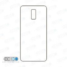 برچسب پشت سی 8 سامسونگ محافظ پشت رنگی و اکلیلی گوشی Samsung Galaxy C8 Back Protector