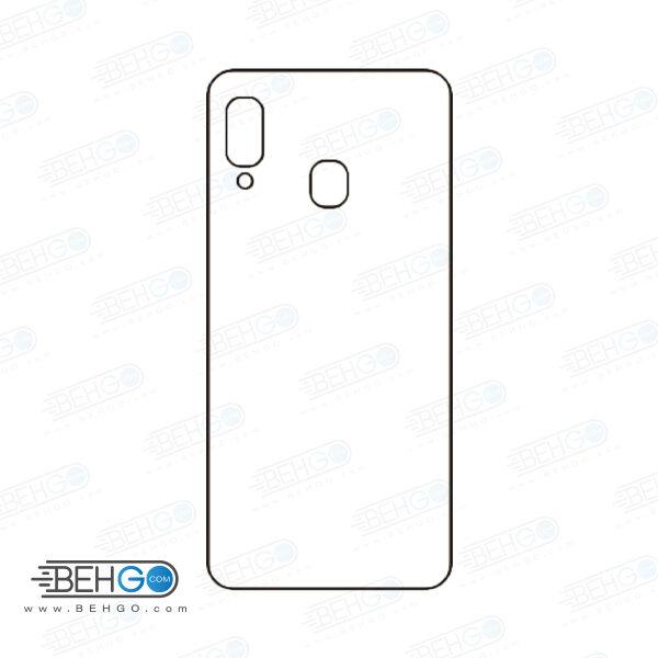 برچسب پشت a20e سامسونگ محافظ پشت رنگی و اکلیلی گوشی Samsung Galaxy A20e Back Protector