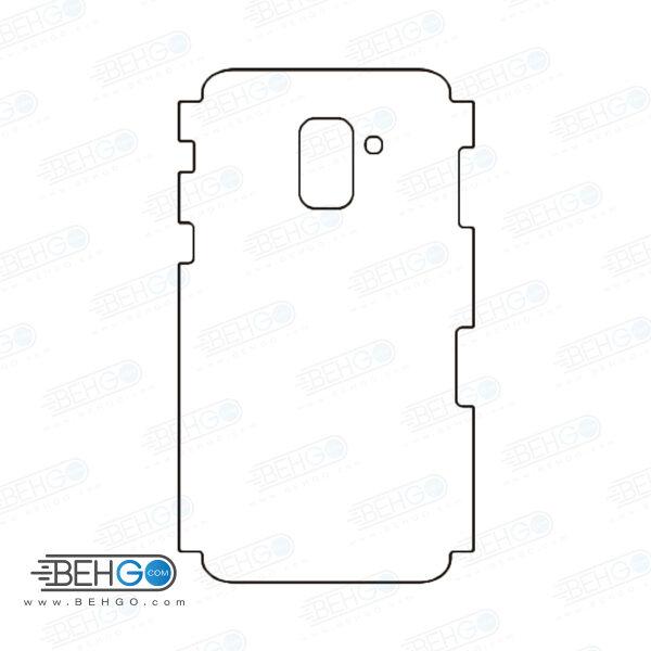 برچسب پشت a8 2018 سامسونگ محافظ پشت رنگی و اکلیلی گوشی Samsung Galaxy A8 2018 Back Protector