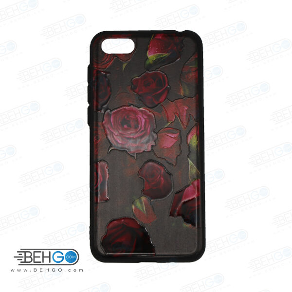 قاب گوشی هواوی وای 5 لایت و Y5 prime 2018 کاور هواوی Honor 7S قاب فانتزی گوشی هواوی وای 5 2018 با عکس گل سرخ طرح 21 محافظ گوشی موبایل هواوی New Red Flowers Phone Case For Huawei Y5 prime 2018/honor 7S /Y5 Lite