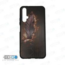 قاب Nova 5T کاور هواوی نوا 5تی قاب نوا 5 تی با عکس پر طرح 22 محافظ مناسب گوشی موبایل هواوی New feather Phone Case For Huawei Nova5t / Nova 5T