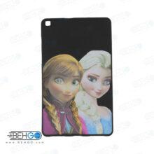 قاب T295 کاور مدل طرح دار دخترانه کد 5 مشکی تبلت سامسونگ تی 295 گلکسی مناسب سامسونگ Frozen Cover For Samsung Galaxy Tab A 8.0 2019 LTE SM-T295