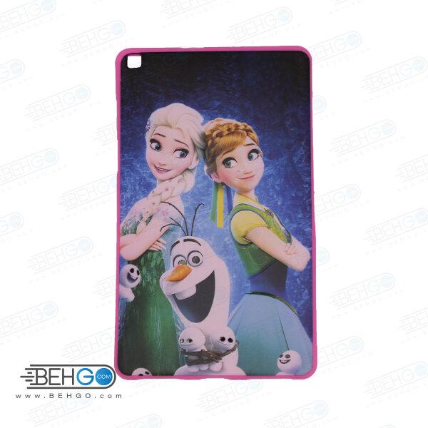 قاب T295 کاور مدل طرح دار دخترانه کد 13 صورتی تبلت سامسونگ تی 295 گلکسی مناسب سامسونگ Cover For Samsung Galaxy Tab A 8.0 2019 LTE SM-T295